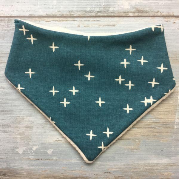Dreieckstuch 'little stars', petrol