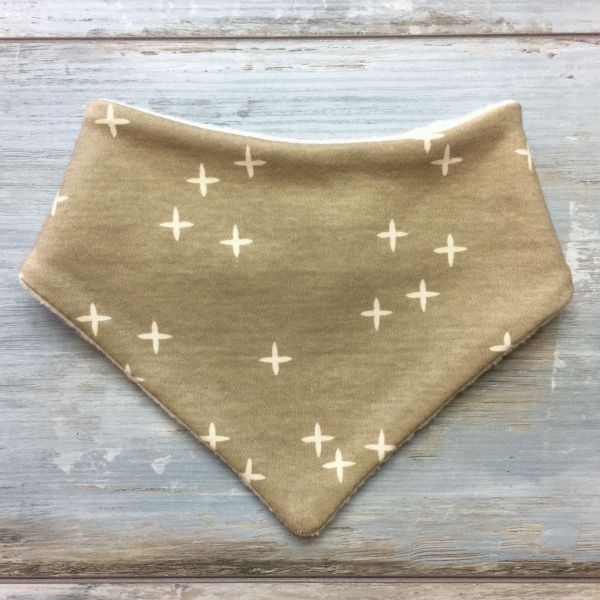 Dreieckstuch 'little stars', natur