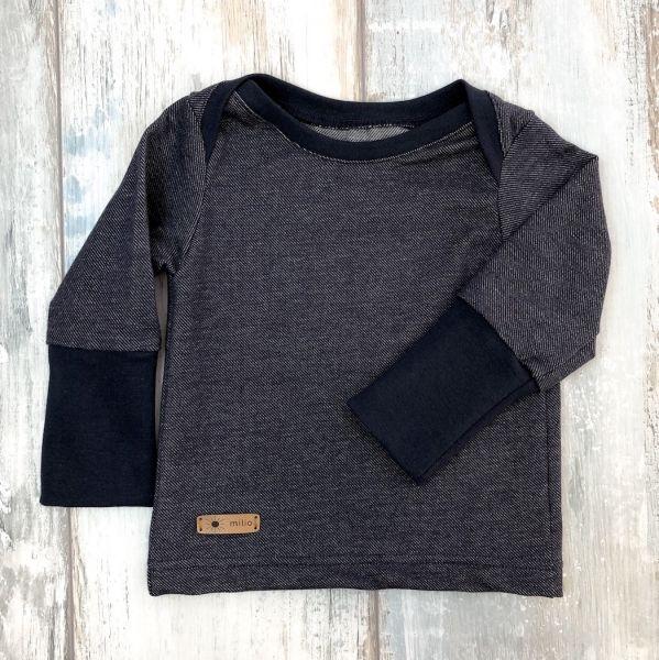 Shirt, Jeans-Jersey d-blau