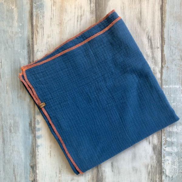 Musselintuch groß, jeansblau