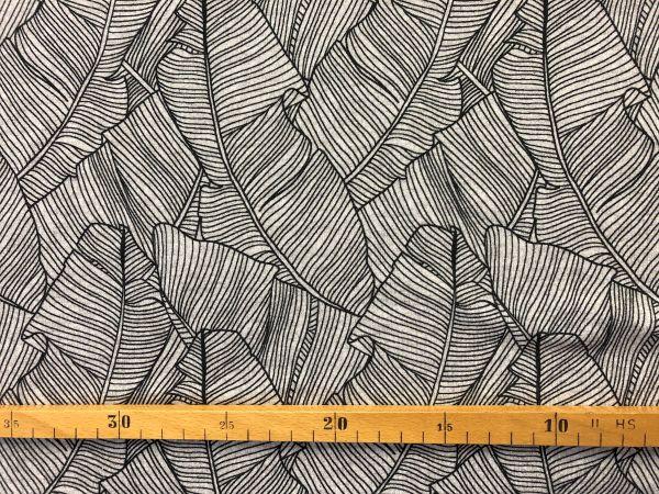 Viscose-Jersey, Blätterprint