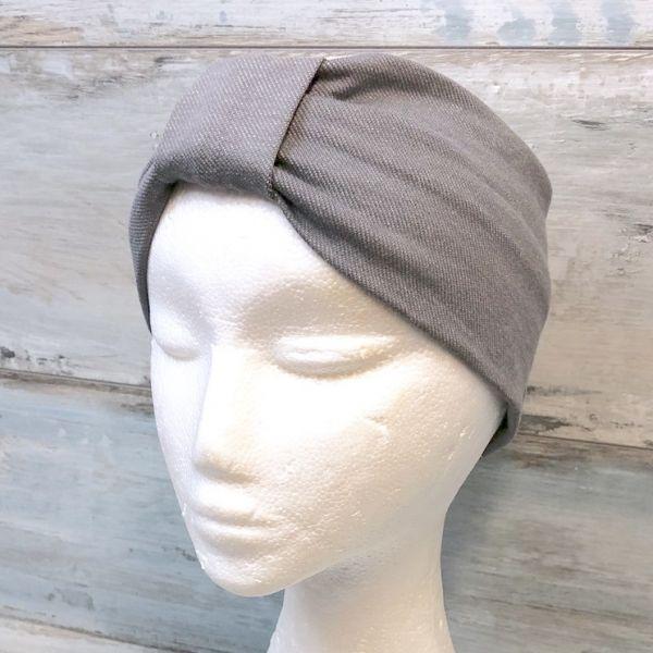 Stirnband mit Knoten, jeansjersey grau
