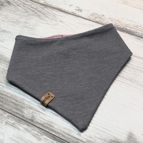 Dreieckstuch, Jeans-Jersey, grau