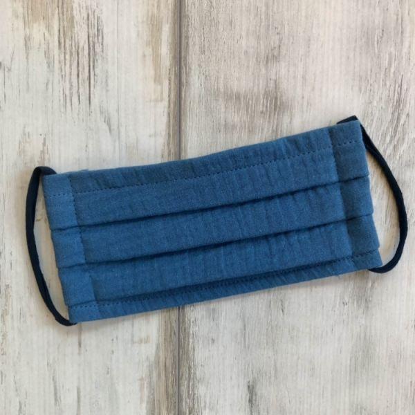Alltagsmaske Musselin, jeansblau