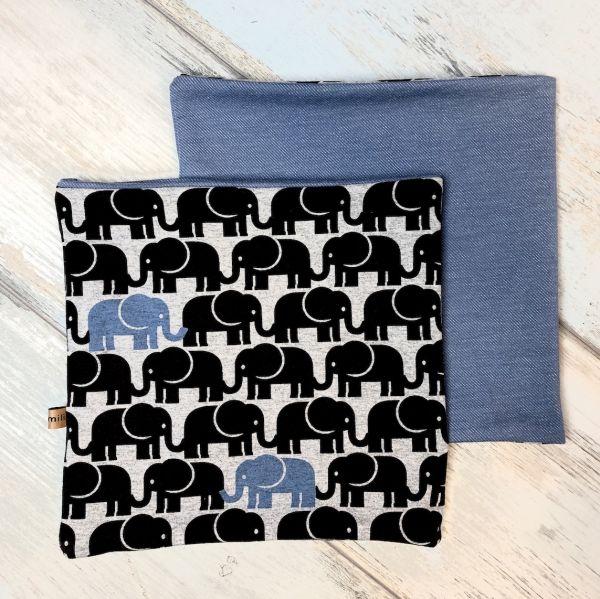 Loop Schal, Elefanten, blau