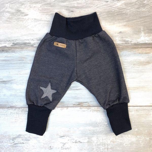 Mitwachshose Jeans-Jersey mit Stern
