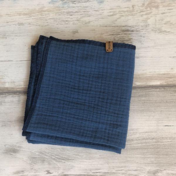 Musselintuch klein, jeansblau