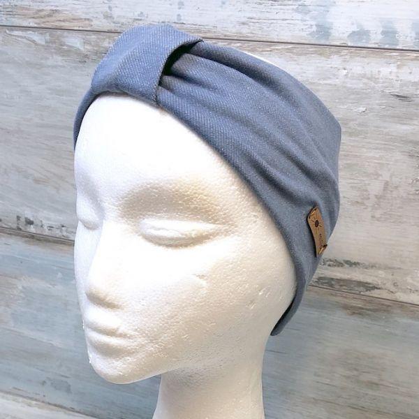 Stirnband mit Knoten, jeansblau