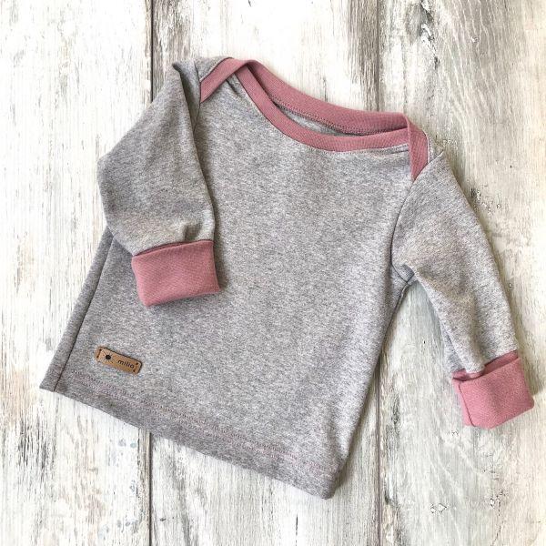 Shirt, grau/rosa 86/92