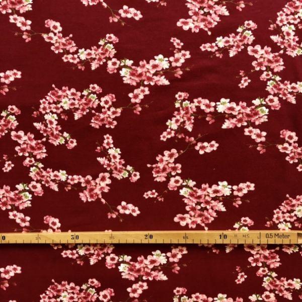 Bio Soft Sweat, Blumenprint bordeaux